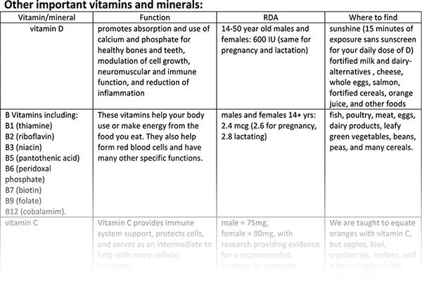 important-vitamins-minerals